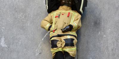 Manneken-Pis als brandweerman