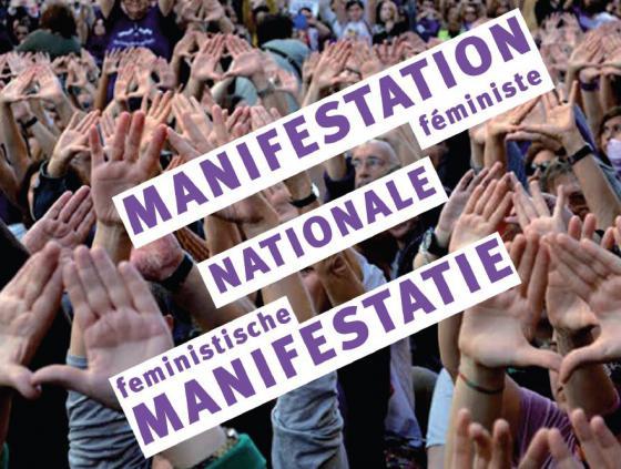 Manifestatie 'STOP geweld tegen vrouwen'