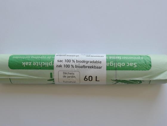 Bioafbreekbare groene zakken van Net Brussel verplicht