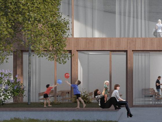 Nieuwe school en passieve woningen in Zennestraat