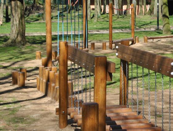 Ludiek parcours in Maximiliaanpark