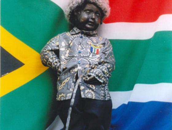 Manneken-Pis als Nelson Mandela