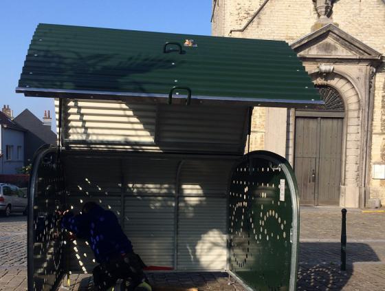 Eerste fietsbox in Haren