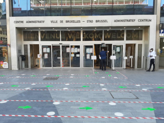 Mondmasker verplicht in Administratief centrum en verbindingsbureaus