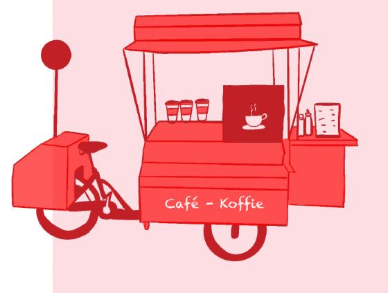 Openbare oproep. Zes locaties op het Foodbike parcours