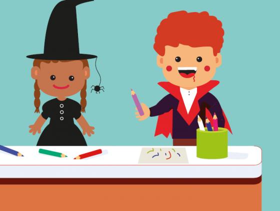 Tekenwedstrijd Halloween (Bockstaelmarkt)