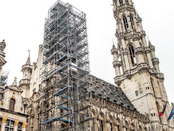 Restauratie torentjes Stadhuis