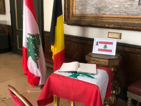 Rouwregister voor slachtoffers ontploffing Beiroet