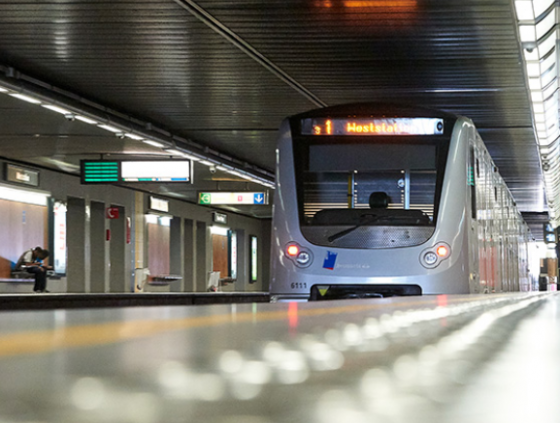 Werken metrolijn 3 en station Toots Thielemans