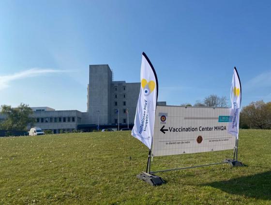 Opening vaccinatiecentrum Neder-Over-Heembeek