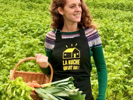 Boerderijproducten in het centrum van Brussel