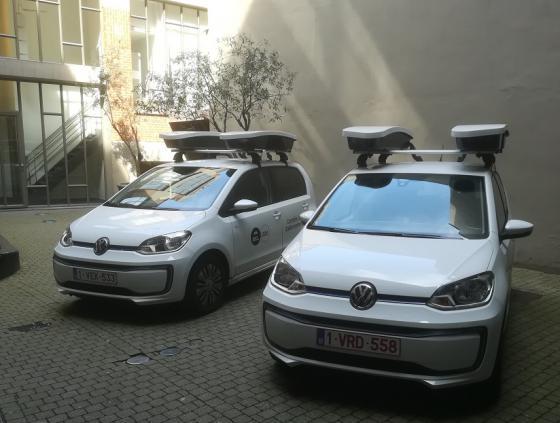 Scanauto's controleren parkeren van voertuigen