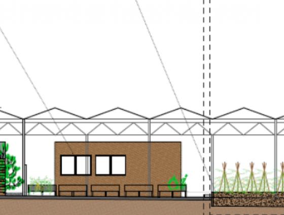 Nieuwe serre voor stadslandbouw aan Bockstael