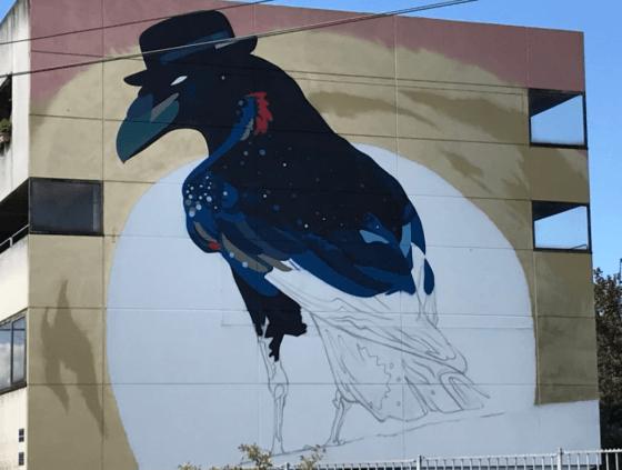 Street art-muur van Sozy-One