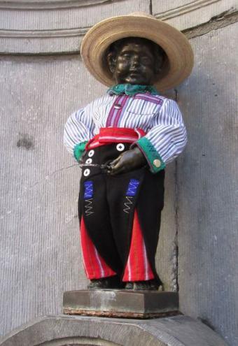 Manneken-Pis eert Guatemala