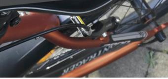 Graveeractie: gegraveerde fiets, beschermde fiets