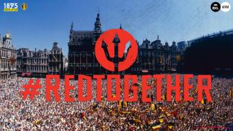 Huldiging Rode Duivels in Brussel