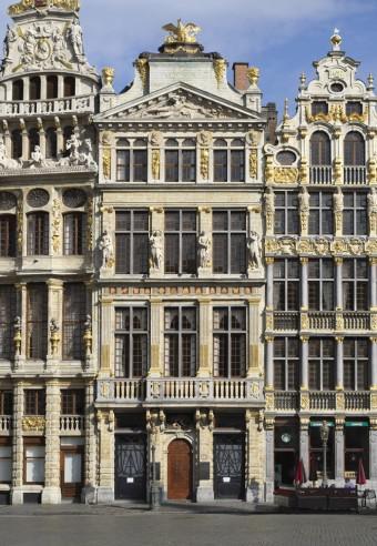 Broodje Brussel. De huizen van de Grote Markt