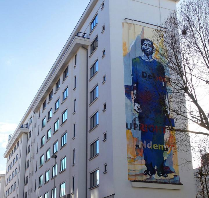 Street art-muur herdenkt Rwandese genocide