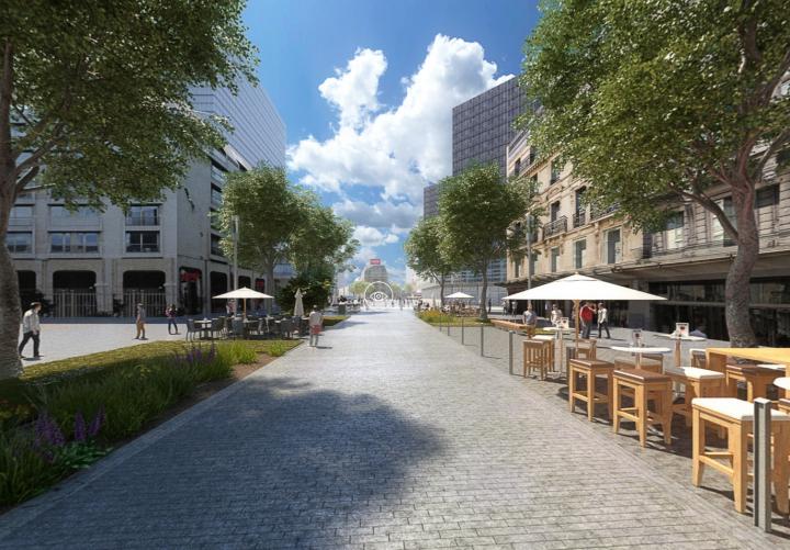 Toekomstig stadscentrum in virtuele realiteit