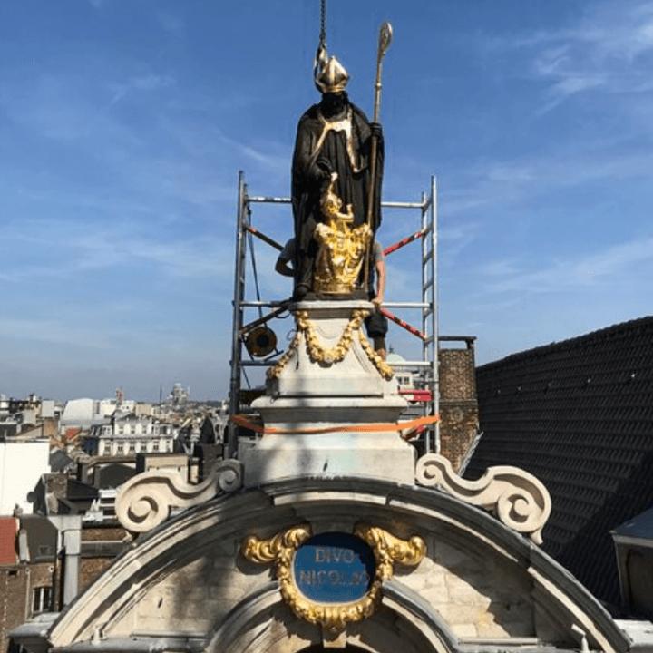 Beeld van Sint-Niklaas terug op de Grote Markt