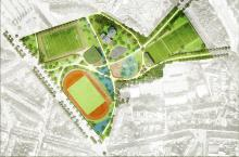 Sportpark (voorontwerp) - klik om te vergroten