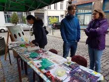 Openingsdrink van de wijkantenne wijkcontract de Marollen - klik om te vergroten