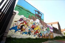 Asterix en Obelix (Goscinny en Uderzo) - Washuisstraat - klik om te vergroten