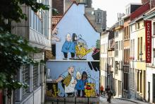Blondie en Blinkie (Jijé) - Kapucijnenstraat - klik om te vergroten