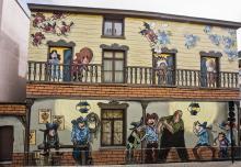 Lincoln (Jouvray) - Paleizenstraat over de Bruggen - klik om te vergroten