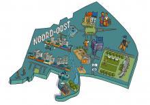 Kaart van de wijk Noord-Oost - klik om te vergroten