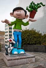 Standbeeld Guust Flater (Franquin) - Pachecolaan - klik om te vergroten